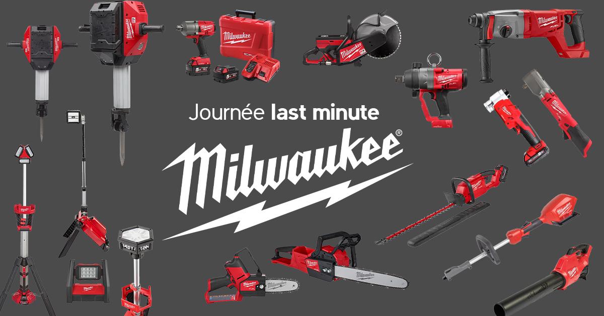 Last minute pour les professionnels – Outils portatifs à accus Milwaukee